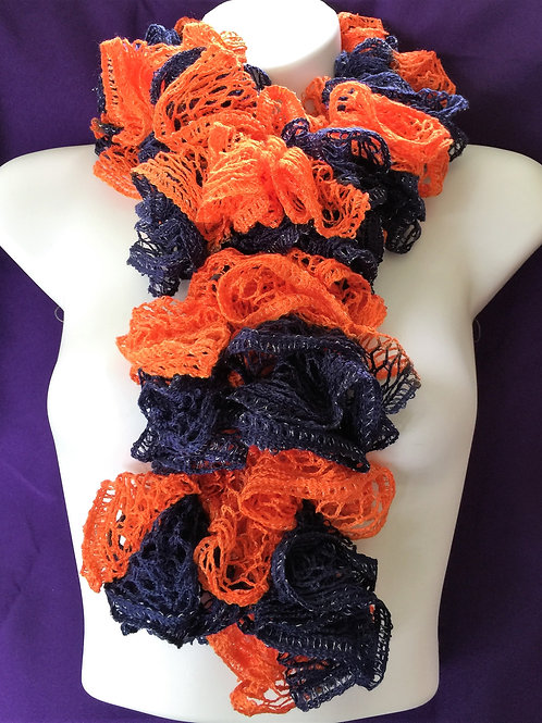 Orange & Navy Sashay Scarf