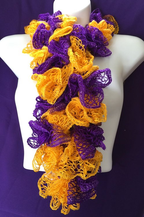 Purple & Gold Sashay Scarf