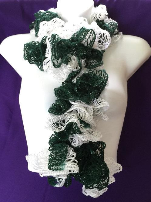 Green & White Sashay Scarf