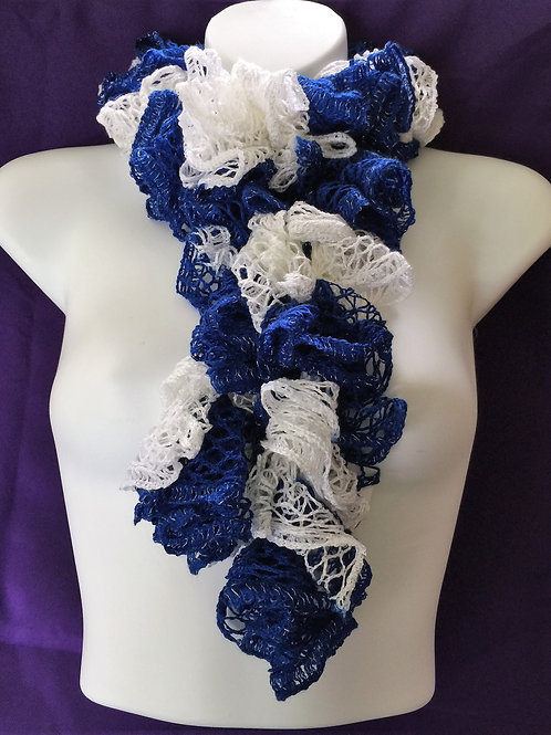 Royal Blue & White Sashay Scarf