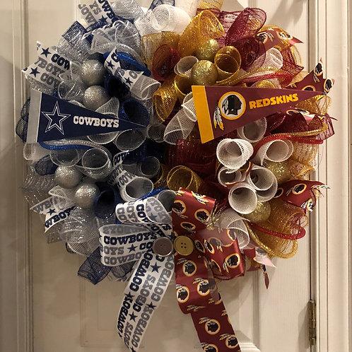 House Divided Skins/Cowboys Wreath