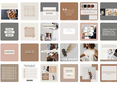 The Mint Studio - Instagram Template Pack