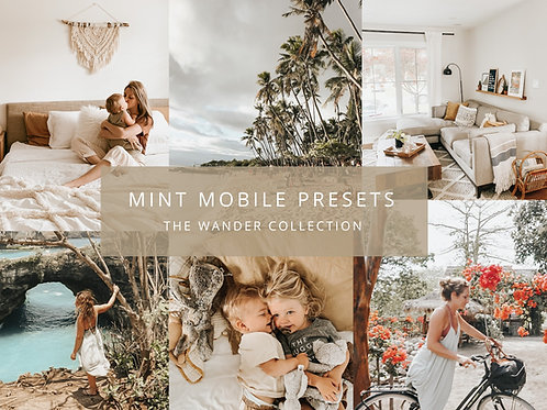 The Mint Studio Mobile Presets - The Wander Collection
