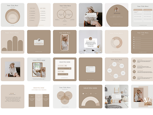 The Mint Studio - Instagram Template Pack