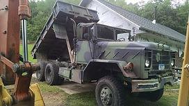 dump truck, hall rocker excavating, la crosse, lax, wi, houston, mn