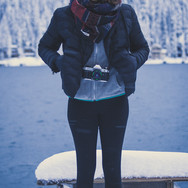 Sutara, cold and happy.