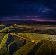 Sunset in the kelpbed.
