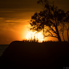Sunset behind the cross off Coal Oil Point in Goleta, CA