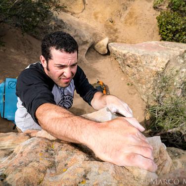 Cousin Mason bouldering