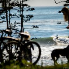 Clint Stripling, ripping his way through a glassy afternoon in Santa Barbara, CA.
