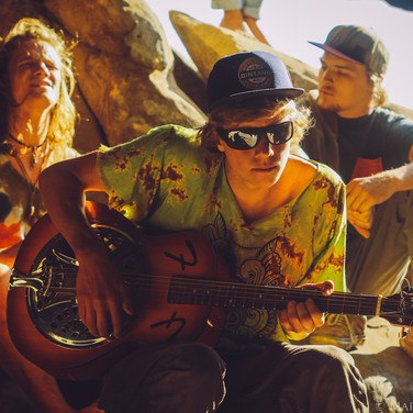 Trill and the Nye's with a rocking cave performance in the Santa Barbara Mountains