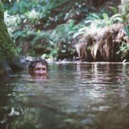 Kyle enjoying the swimming hole.