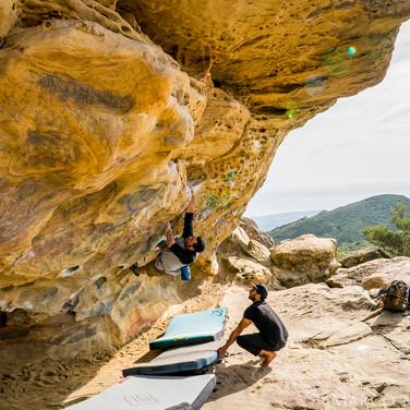 Rock climbing with Cousin Mason at Lizards Mouth, Santa Barbara CA.