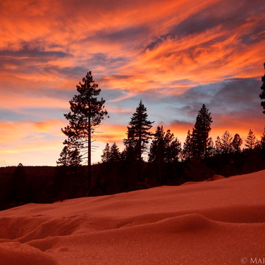 Snowy Tahoe Sunset