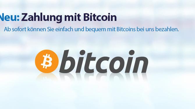 Jetzt neu: Bei meddax24.de mit Bitcoin bezahlen