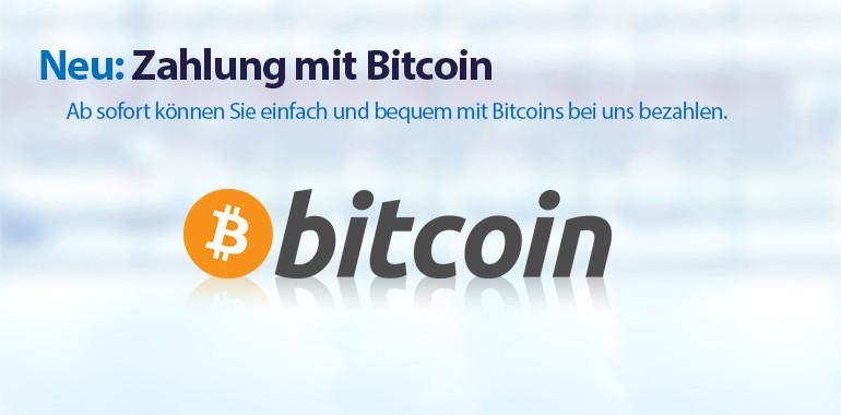 Banner - Zahlung mit Bitcoin