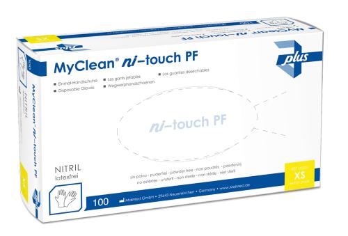 MyClean ni-touch blau PF - Einmalhandschuhe aus Nitril