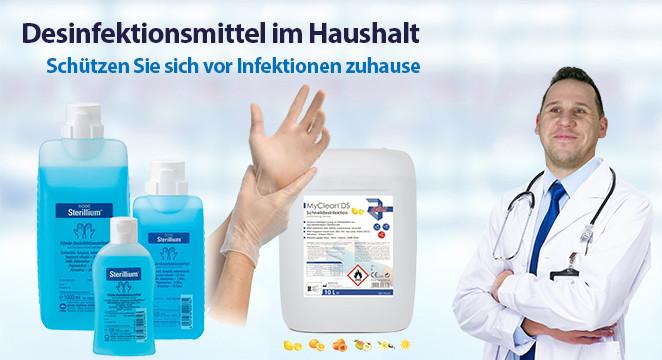 Desinfektionsmittel zuhause
