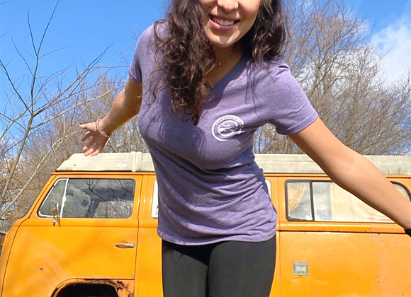 Women's V Neck Horizon Tee Shirt