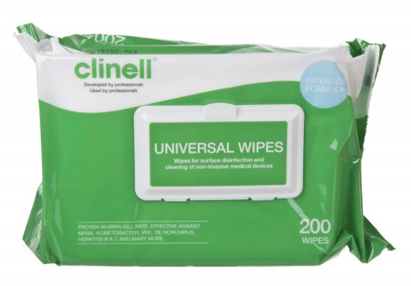 Clinell Universal Wipes 1 x 200