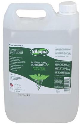 Nilaqua Hand Sanitiser Alcohol Free | 5 litres