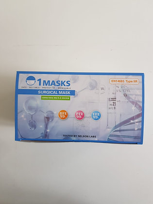 3 Ply Type IIR Medical Face Masks (Pack of 50)