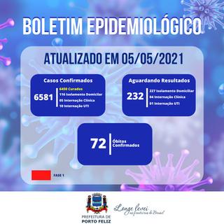 Boletim Epidemiológico - 05.05