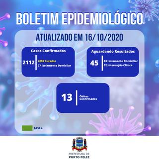 Boletim Epidemiológico - 16.10