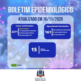 Boletim Epidemiológico - 16.11