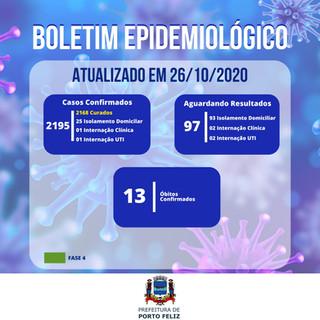 Boletim Epidemiológico - 26.10