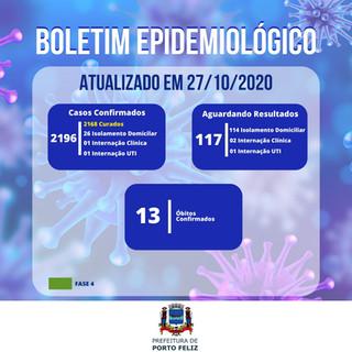 Boletim Epidemiológico - 27.10