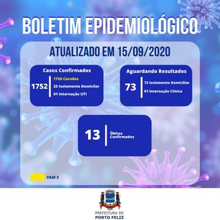 Boletim Epidemiológico - 15.09