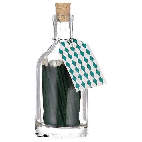 GREEN MATCH GLASS BOTTLE