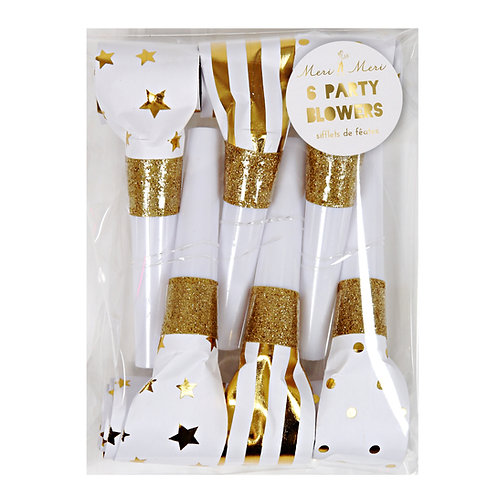 GOLD PARTY BLOWERS