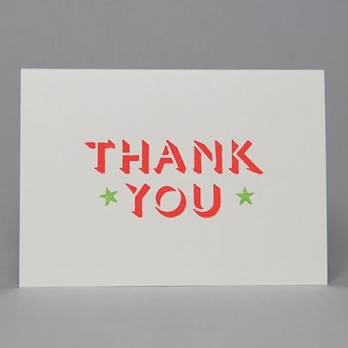 THANK YOU CARD (ORANGE)
