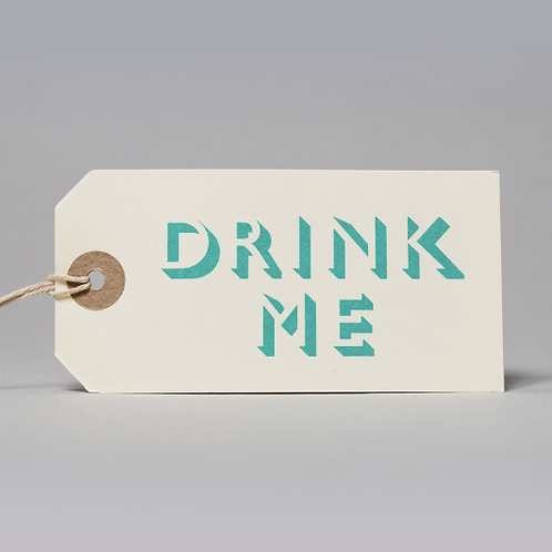 DRINK ME GIFT TAGS (BLUE)