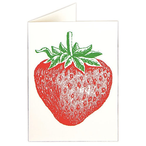 STRAWBERRY NOTECARDS (6)