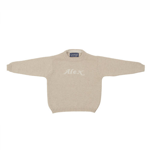 CHILDREN'S NATURAL CASHMERE JUMPER WITH NAME