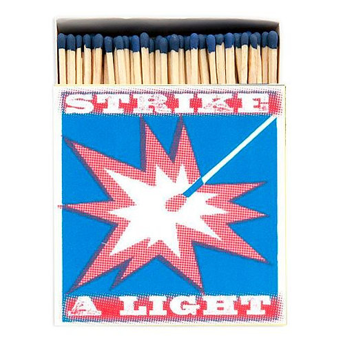 STRIKE A LIGHT SQUARE MATCHBOX