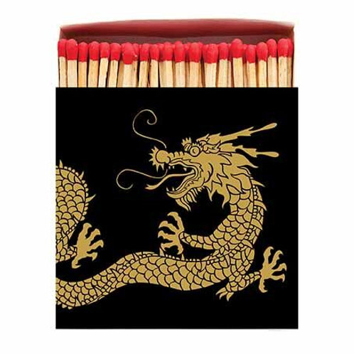 GOLD DRAGON SQUARE MATCHBOX
