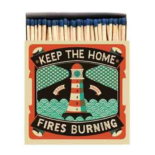 HOME FIRES SQUARE MATCHBOX