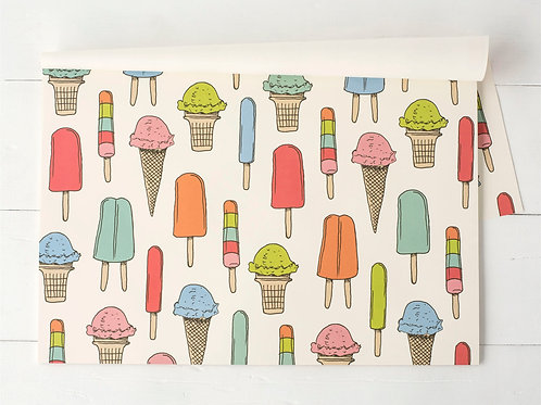 ICE CREAM SOCIAL PAPER PLACEMATS