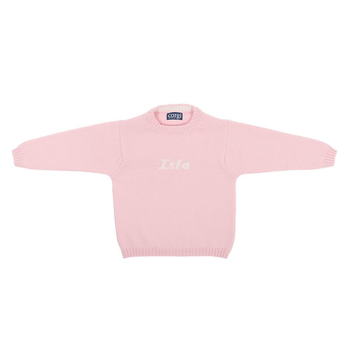 CHILDREN'S PINK CASHMERE JUMPER WITH NAME