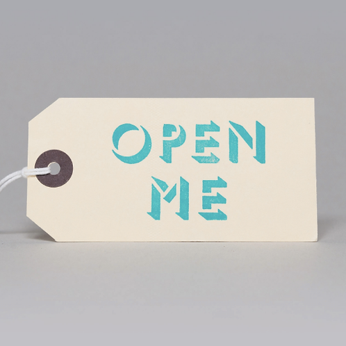 OPEN ME GIFT TAGS (BLUE)
