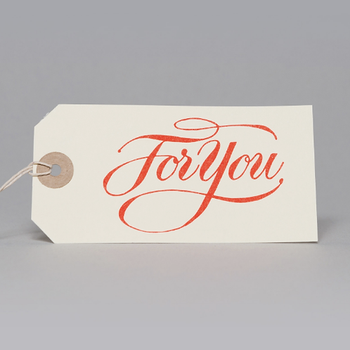 FOR YOU GIFT TAGS (ORANGE)