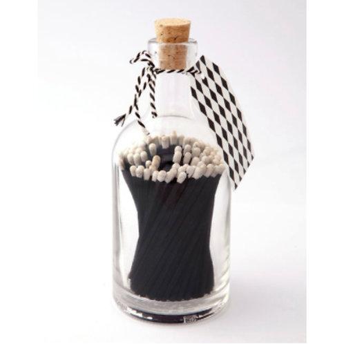 BLACK MATCH GLASS BOTTLE