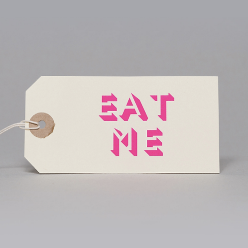 EAT ME GIFT TAGS (PINK)