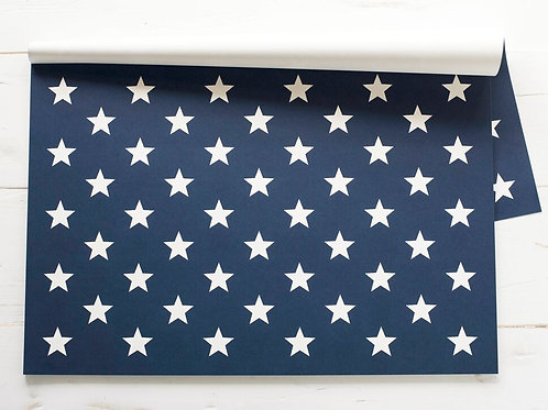 STARS ON BLUE PAPER PLACEMATS