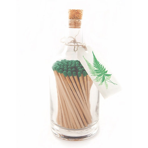 FERN MATCH GLASS BOTTLE