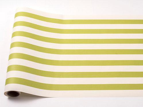 GREEN STRIPE PAPER TABLE RUNNER